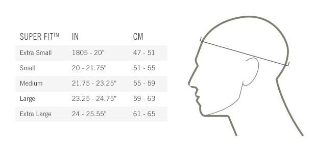 Giro Cipher Helmet Sizing Chart