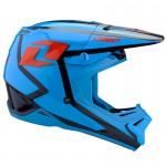 One Industries Gamma Bot Helmet Cyan blue